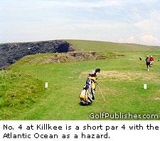 Kilkee's dramatic short par-4 3rd hole