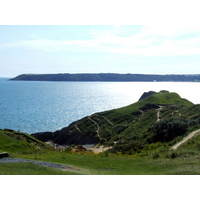 A view of the sea from the back nine at Pennard Golf Club.