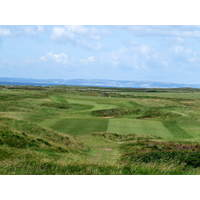 A view of the long par-4 15th hole at Royal Porthcawl.