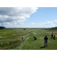 Teeing off on the ninth hole at Ashburnham Golf Club in Wales.