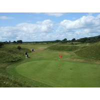 A view of Ashburnham Golf Club in Wales.
