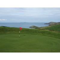 A view of the first green at St. David's City Golf Club.