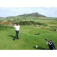 A view of the par-4 seventh tee at St. David's City Golf Club in southwest Wales.