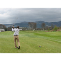 Views of surrounding hills at Powerscourt Golf Club, County Wicklow