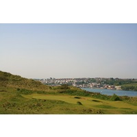 St. Enodoc's Golf Club's Church Course overlooks Padstow and the Camel Estuary.