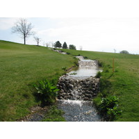 Simons Golf Club in Humelbaek, Denmark has a beautiful stream playing through.