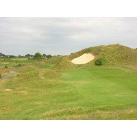 "The ""Himalaya"" bunker on the Church Course's sixth hole makes the approach shot to the green almost entirely blind."
