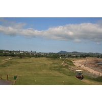 The par-5 fifth hole at Abersoch Golf Club plays along the coastline.