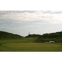 Holyhead Golf Club's par 4s are often guarded by thick heather on either side of the fairway.