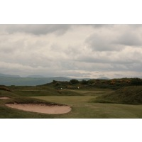 The 10th hole at Porthmadog Golf Club is the first of six exceptional links holes.