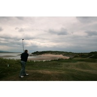 Porthmadog Golf Club's famous 12th hole features a tee shot played over a beach.