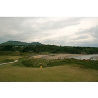 Porthmadog Golf Club's 12th hole from the green.