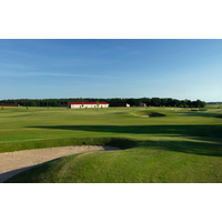 The Golf and Country Club Fleesensee features three championship golf courses and two executive courses, plus a massive, circular driving range.