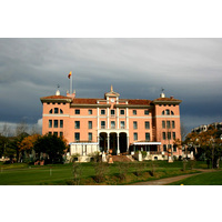 The five-star Villa Padierna Hotel is the centerpiece of the Flamingos Golf Club in Marbella, Spain.