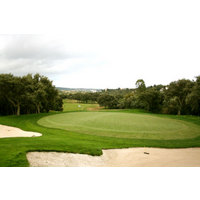 No. 14 at Valderrama Golf Club is a long par 4 that heads straight uphill to the steepest of elevated greens.
