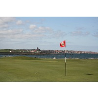 Dunbar Golf Club features 14 holes that play tightly along the Firth of Forth, offering wonderful views.