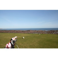 Dunbar Golf Club's fourth tee box begins a stretch of holes where virtually every tee box is near the coast.