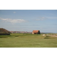 Dunbar Golf Club's 14th hole usually has a slight wind at your back and coming in off the sea on the right.