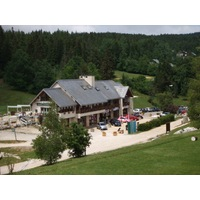 The clubhouse at Correncon en Vercors Golf Club in France, which opened in 1989.