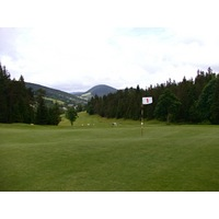 The par-5 first hole is Correncon en Vercors Golf Club's most wide-open hole.