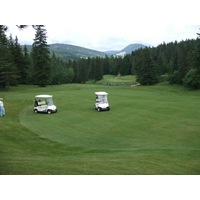 On uphill holes at Correncon en Vercors Golf Club, be sure to look back toward the tee box for great views, like on the par-4 second.