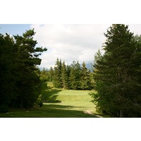 Correncon en Vercors Golf Club's 15th hole is a delicate par 3 to an elevated green over water.