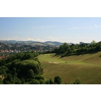 Many of the fairways at Saint Etienne Golf Club are set on steep hillsides.