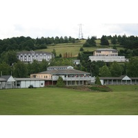 Saint Etienne Golf Club features a full clubhouse and driving range.