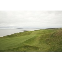 The seventh is the first of several holes that play along the sea on the Old Course at Ballybunion Golf Club.