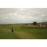 The first hole plays alongside an old cemetery on the Old Course at Ballybunion Golf Club.
