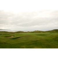 The second hole is a tough par 4 that plays uphill to an elevated green on the Old Course at Ballybunion Golf Club.
