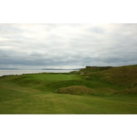 The 10th hole on the Old Course at Ballybunion Golf Club is a dogleg left, short par 4.