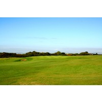 The first hole at Pyle & Kenfig Golf Club in Wales is a 372-yard par 4.