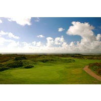 The 14th hole at Pyle & Kenfig Golf Club is 412 yards from the championship tees.