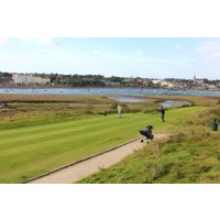 The scenic 14th at the Island Golf Club near Dublin plays along the Malahide Estuary.