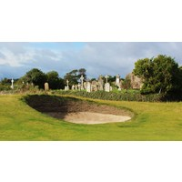 With shades of Ballybunion, Portmarnock Golf Links has a cemetery along the right side of the first hole.