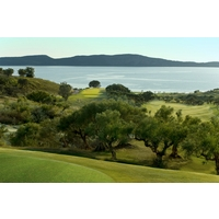 Costa Navarino's Bay Course is set in rolling, lush hills beside the sea.