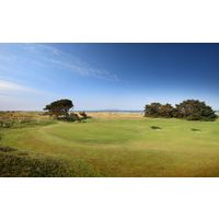 A view of the fourth green at Portmarnock Golf Club in Co. Dublin, Ireland.