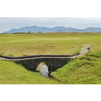 This hidden burn causes concern on the first hole at Dingle Golf Links in County Kerry, Ireland.