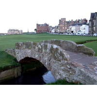 Once used for herding sheep and cattle, 700-year-old Swilcan Bridge on the 18th hole is one of golf's most famous landmarks.
