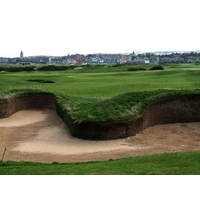 The appropriately named Hell bunker rudely interrupts the fairway on the par-5 14th.