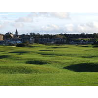 It's a bumpy ride on the Old Course's 16th.