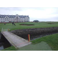 Another burn makes for a difficult finish on Carnoustie's No. 18.