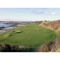 The narrow par-5 11th is one of the star holes at Ardglass.