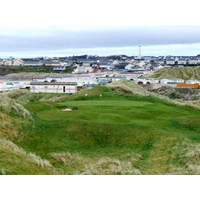 The par-3 17th overlooks Enniscrone village.