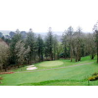 The par 3 fifth plays steeply downhill and offers countryside views.