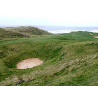 The Mine bunker lurks off the sixth hole on the Old Course at Lahinch Golf Club.