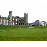 Ballyheigue Castle Golf Club's ninth plays up to the base of the old castle ruins.