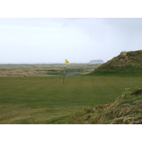 Ominous Glashedy Rock looms offshore of Ballyliffin, Ireland's northernmost golf club.