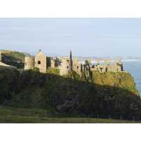 Dunluce Castle is located just a mile or so from Portrush in Northern Ireland.